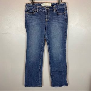 LOFT slim bootcut medium wash stretch jeans 10